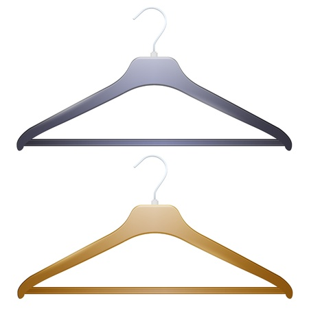 Two hangers on white background.  Vector