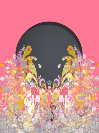 Abstract vintage flowers.  Vector