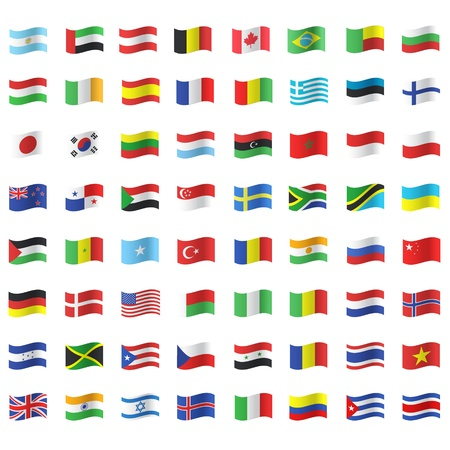 Collection of flags. Vector design. Vector