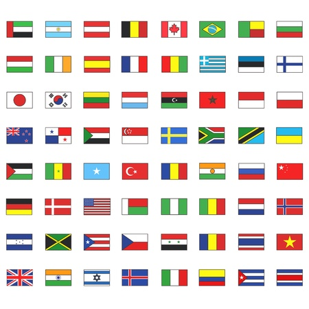 Collection of flags.