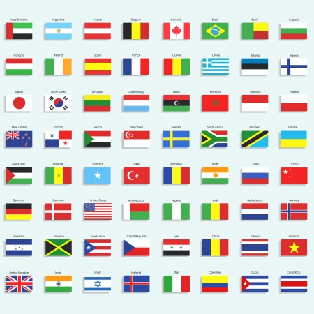 Collection of flags.  Illustration