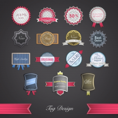 Set of vintage. Vector design.  Vector