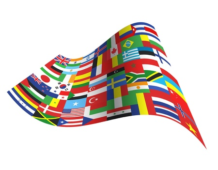 Big flag with all countries design.