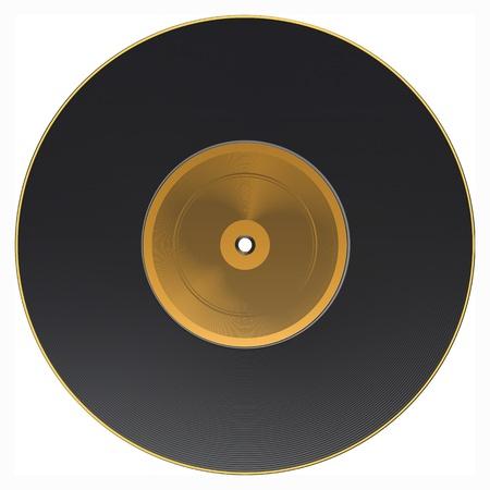 grooves: Vinyl isolated on white.  Illustration