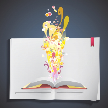 Fantastic book inside a white book  Stock Vector - 20484622