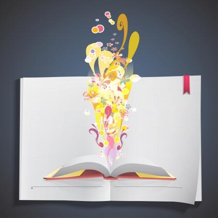 Fantastic book inside a white book Stock Vector - 20484622