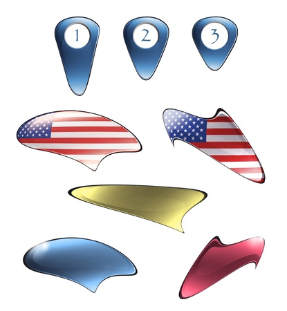 Set of speech bubbles on white isolated background. Illustration