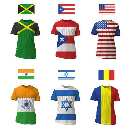 National shirt design.  Vector