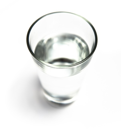 water glass isolated on white background  Stock Photo - 20596953