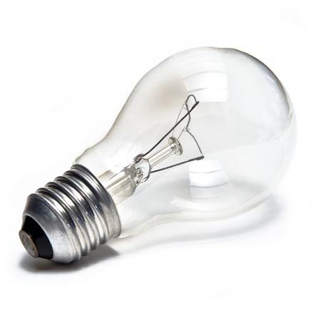 focos de luz: Bombilla aislado en blanco