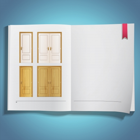 Set of wood door printed on book  Vector design  Stock Vector - 21025007