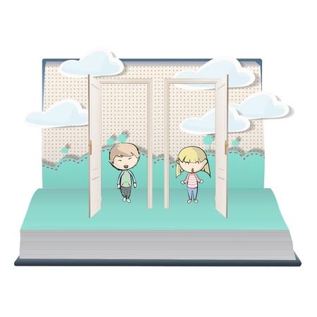 Kids indoor on book  Vector design Stock Vector - 21025032