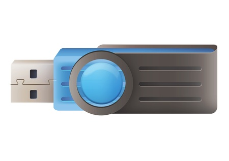 blue pendrive  vector design Vector