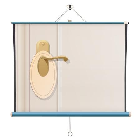 Deurknop op project scherm. Vector design Stock Illustratie