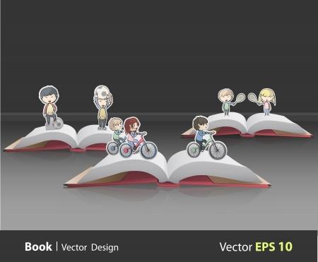 book collection sport Stock Vector - 21160342