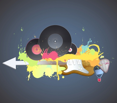 Colorful poster of music party.  Stock Vector - 21160357