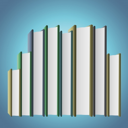 Several books on blue background. Stock Photo - 21160423