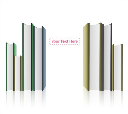 Several books on white background. Stock Photo - 21160432