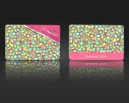TV pattern in business Card. design.  photo