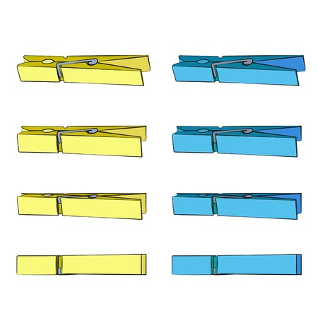 clothespin: Colorful Clothespin.  Illustration
