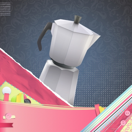 Nice design with coffee pot on vintage background.  Stock Vector - 21297675