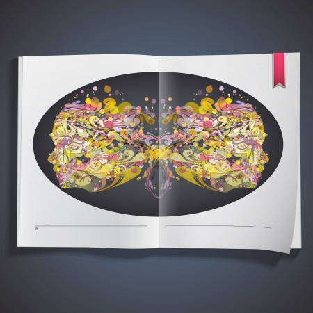 Abstract face printed on book  Vector design Stock Vector - 21501986