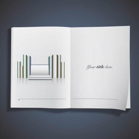 Several books printed on book  Vector design