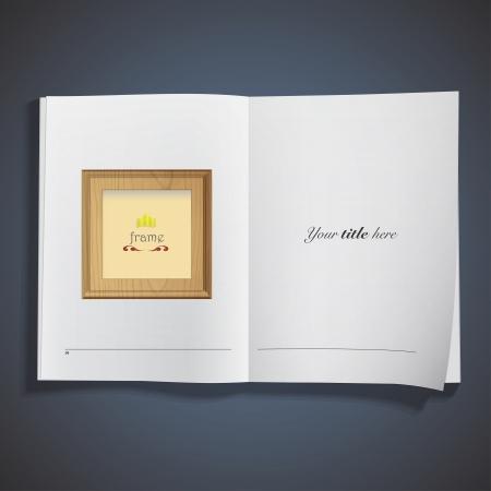 Wooden framework printed on book  Vector design Stock Vector - 21501990