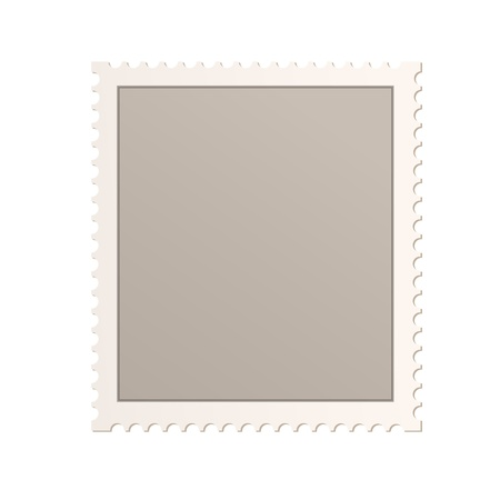 Empty stamp over isolated white background. Illustration.