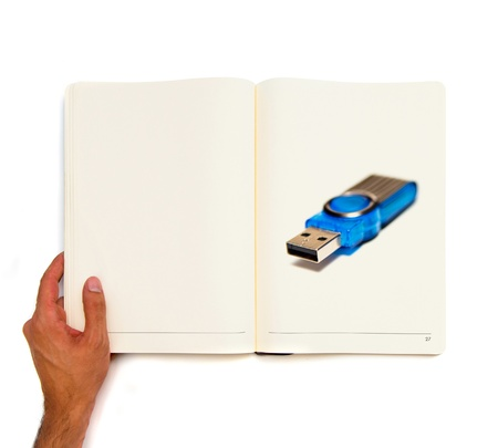 pendrive printed on white book Stock Photo - 22124123