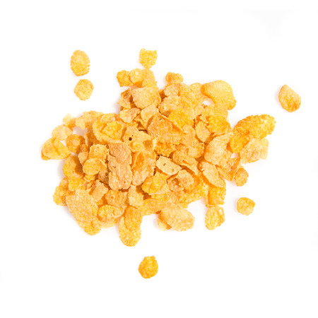 cornflakes: Group of cereals isolated over white background Stock Photo