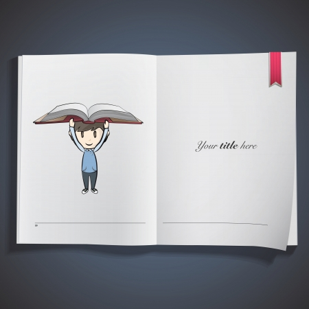 Kid holding book printed on book. Vector design Stock Vector - 22749296