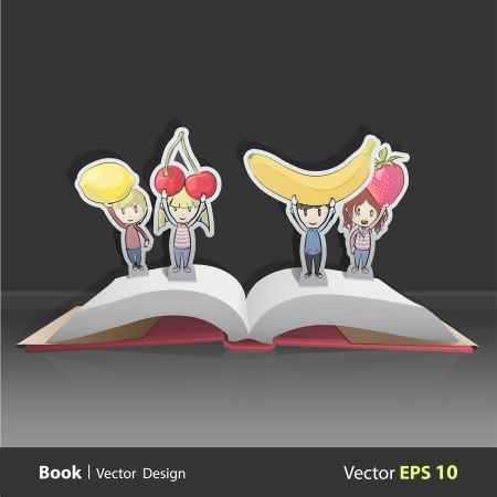 Kids holding fruits. Vector design Stock Vector - 22749314