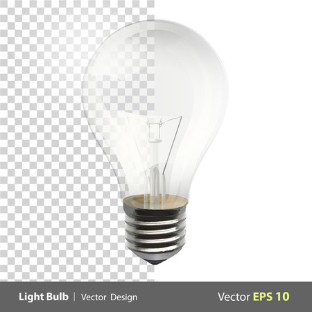 bombilla: L�mpara de dise�o vectorial realista realista Vectores