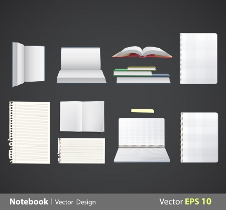 Set of books  Vector design   Vector