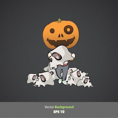 Kid with pumpkin  Vector design   Vector