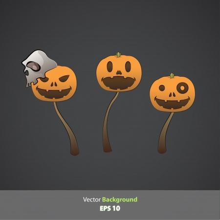 Halloween pumpkins  Vector design   Vector