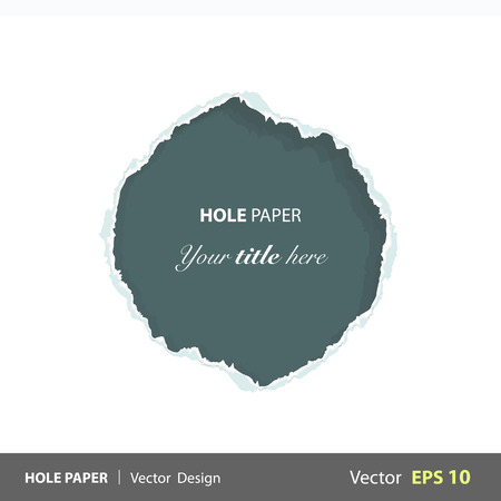 Green hole over white background. Vector design.  Stock Vector - 22895654