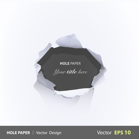 Black hole over white background. Vector design.  Vector