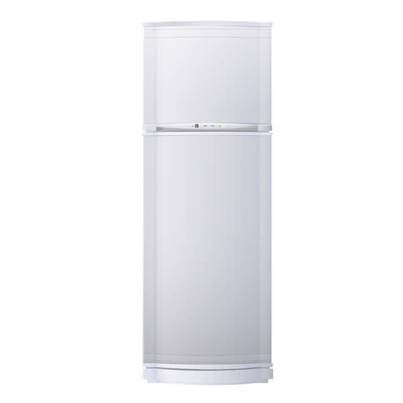 Realistic refrigerator over white background. Vector