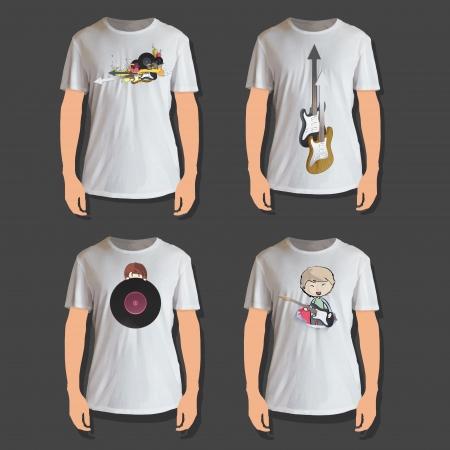 camicia bianca: Set di shirt design bianco