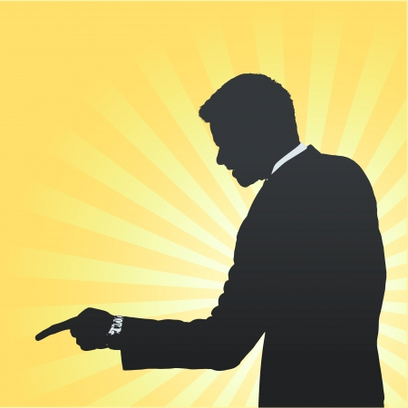 Silhouette of businessman angry and shouting. Vector design. Stock Vector - 23098266