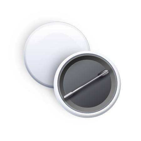 realist: Badges on white background. Vector design.