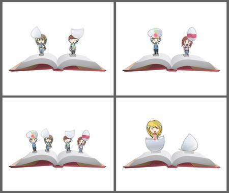 Set of kids holding easter eggs. Vector design.  Stock Vector - 23462128