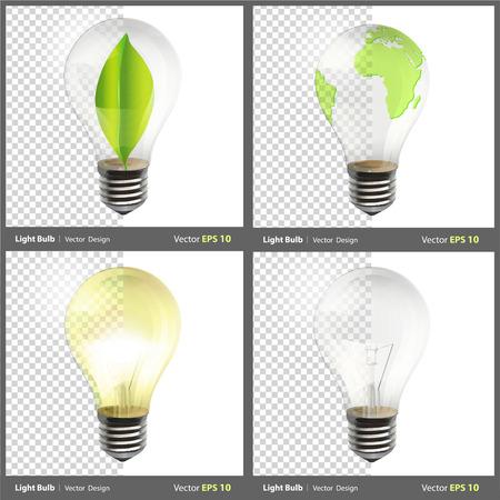 Realistic bulb. Realistic vector design.  Vector