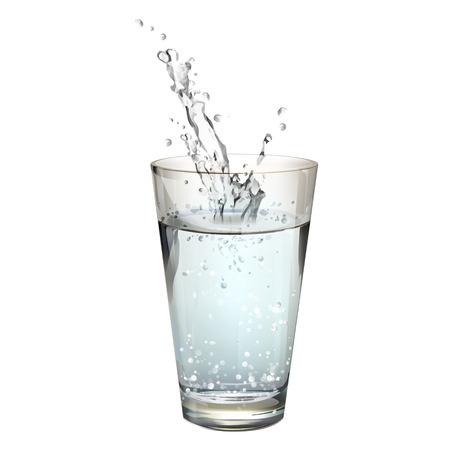 Realistico acqua splash. Disegno vettoriale