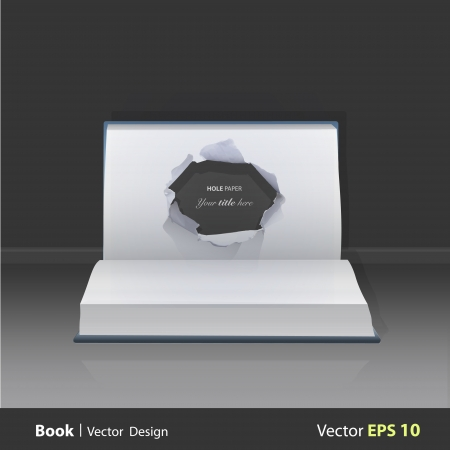 popup: hole paper in popup book. Vector illustration.  Illustration