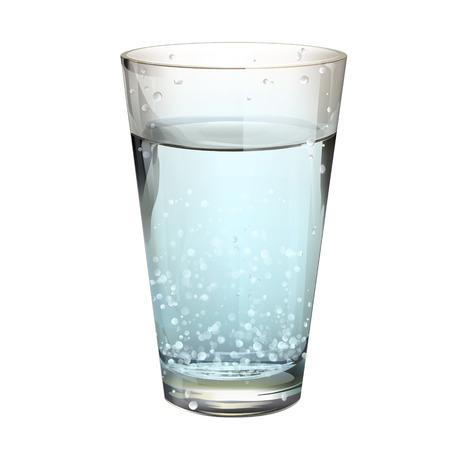 Bicchiere d'acqua realistica. Disegno vettoriale Archivio Fotografico - 23462408