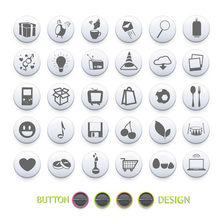 Set of icons for website. Vector design  Vector