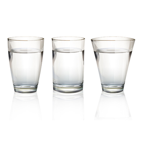 Set of realistic water glasses with different shapes. Vector design Stock Vector - 23867919